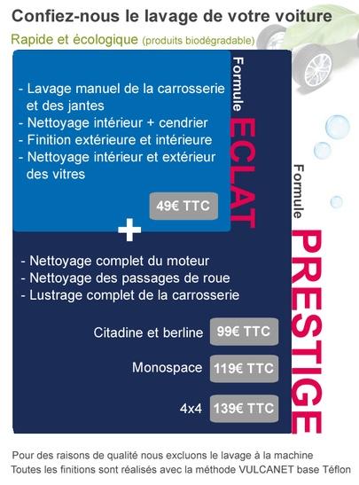 Service Lavage - Méthode Vulcanet á base Téflon